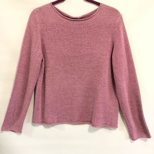 Eileen Fisher NWOT sweater szL mauve long sleeve